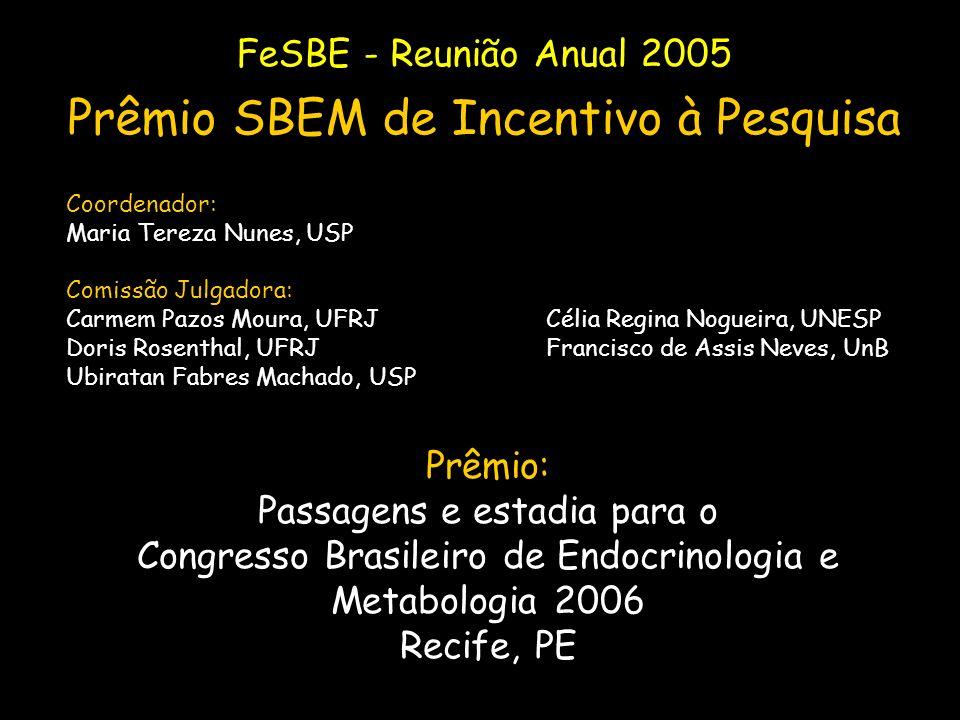 Prêmio SBEM de Incentivo à Pesquisa