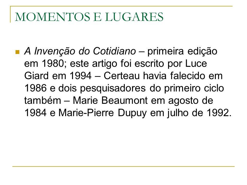 MOMENTOS E LUGARES