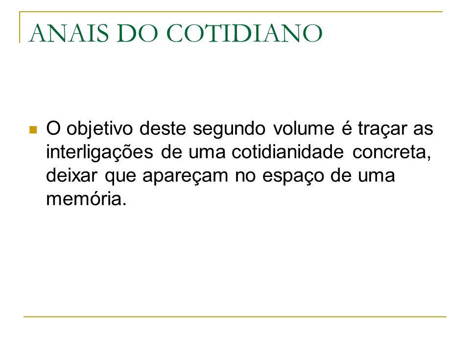 ANAIS DO COTIDIANO