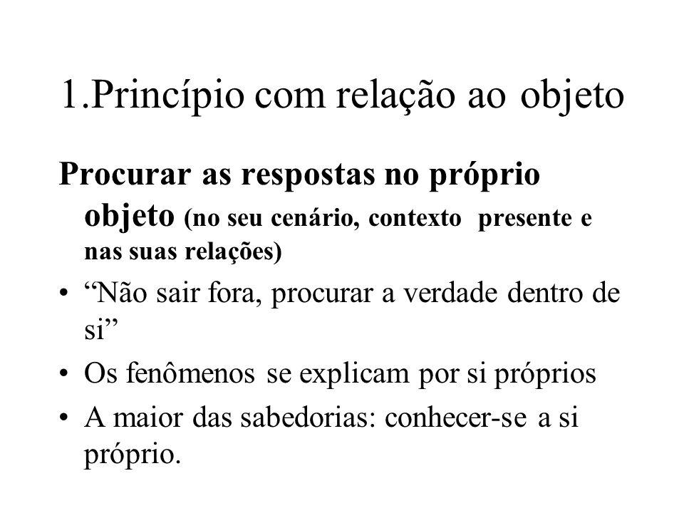 1.Princípio com relação ao objeto