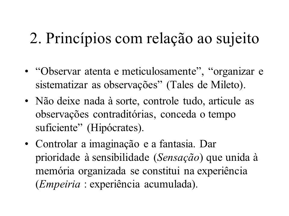 2. Princípios com relação ao sujeito