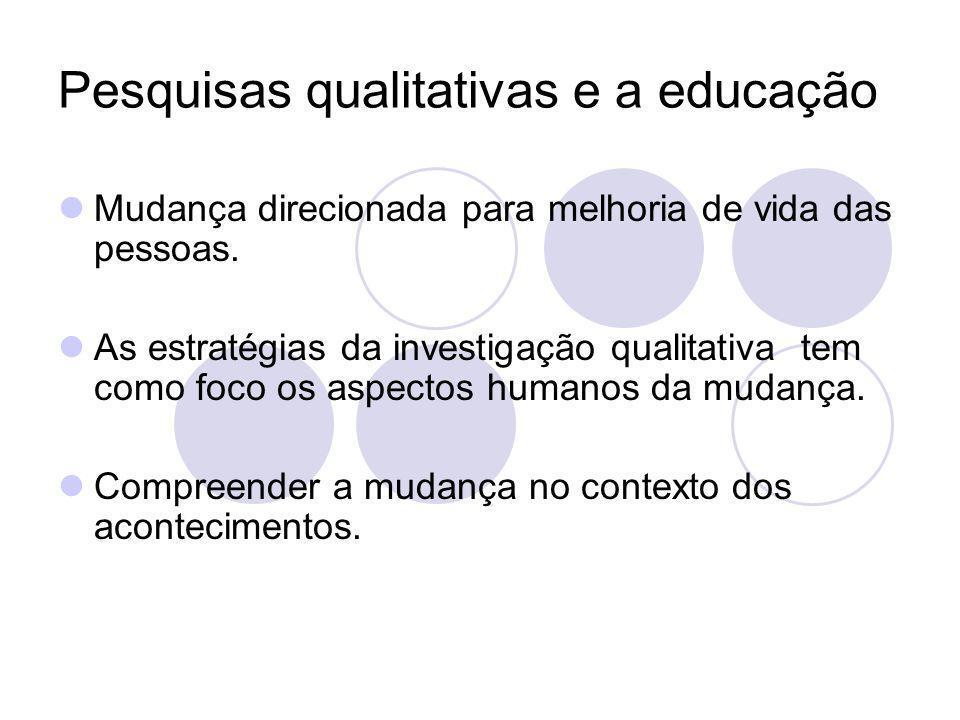 Pesquisas qualitativas e a educação