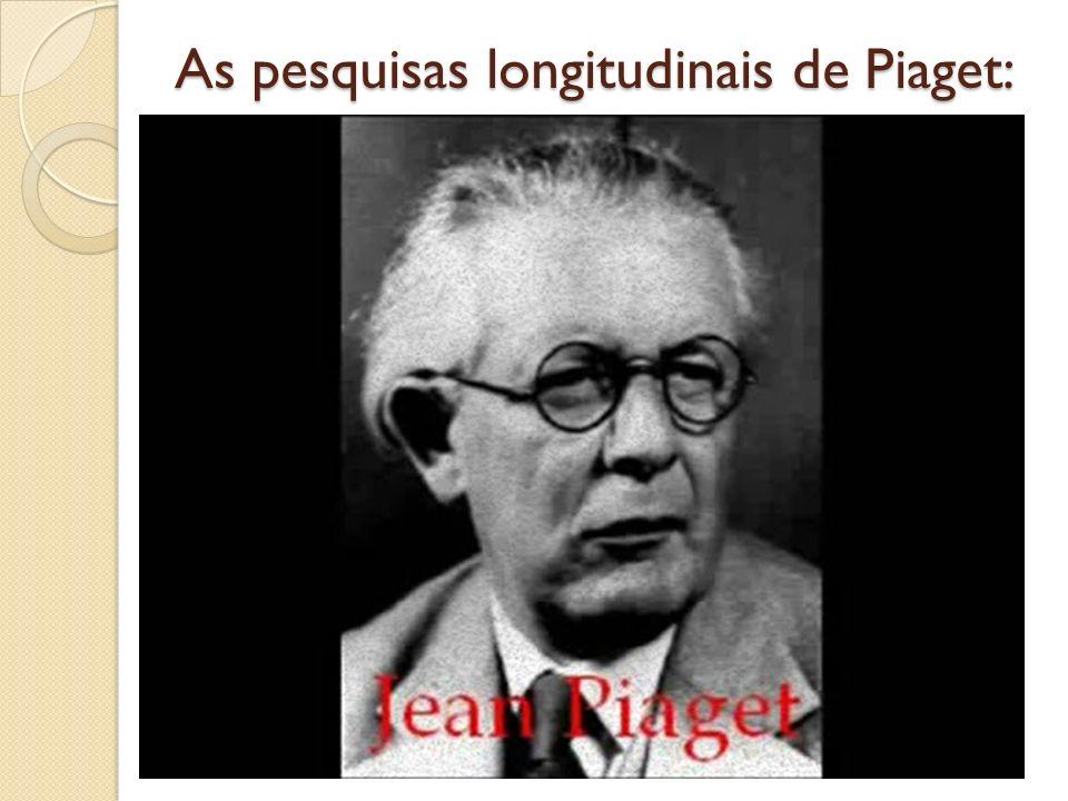 As pesquisas longitudinais de Piaget: