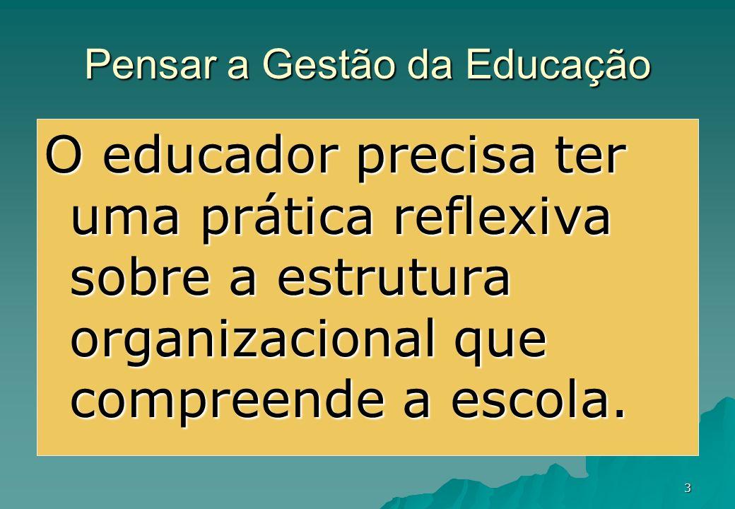 Pensar a Gestão da Educação