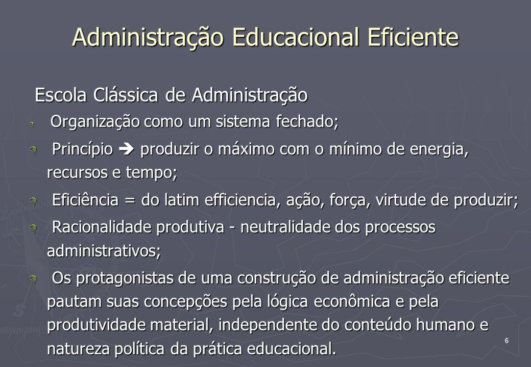 Administração Educacional Eficiente