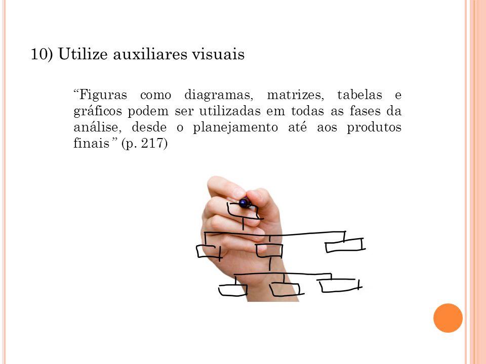 10) Utilize auxiliares visuais