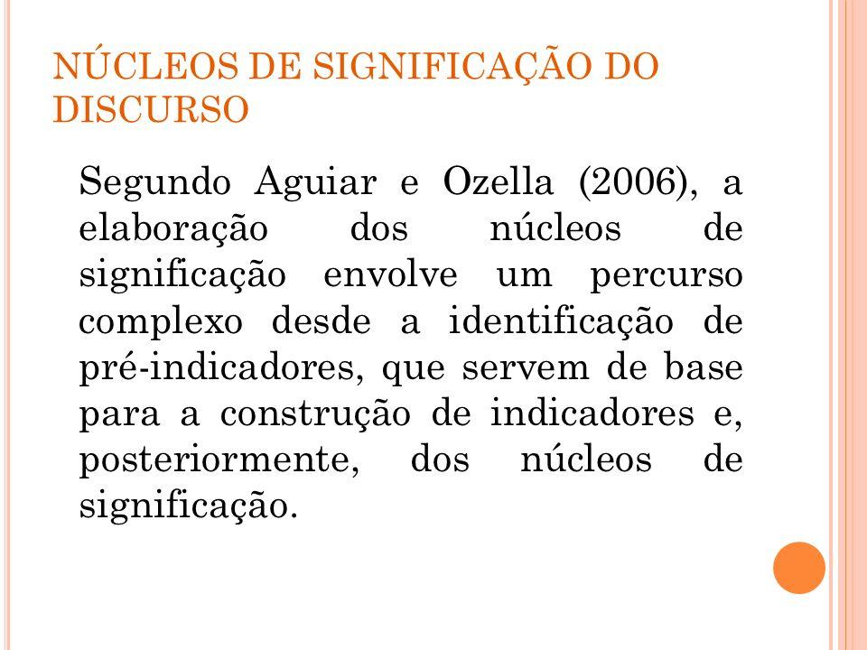 NÚCLEOS DE SIGNIFICAÇÃO DO DISCURSO