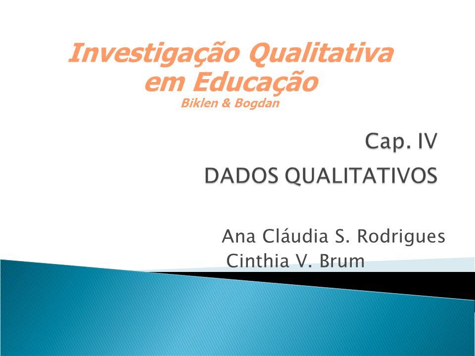 Investigação Qualitativa em Educação Biklen & Bogdan