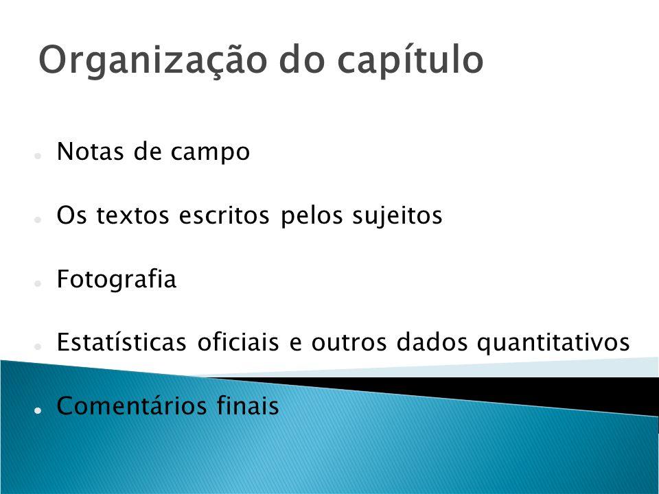 Organização do capítulo