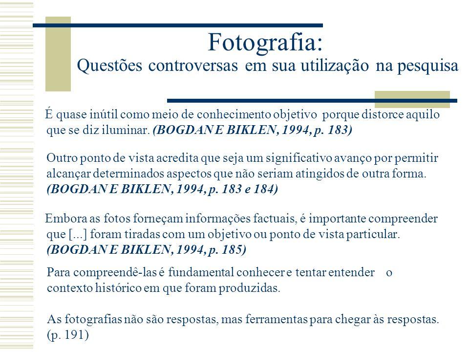 Fotografia: Questões controversas em sua utilização na pesquisa
