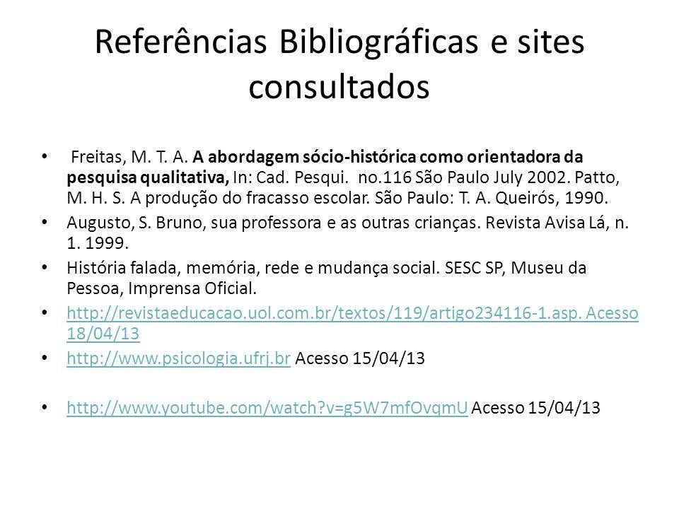 Referências Bibliográficas e sites consultados