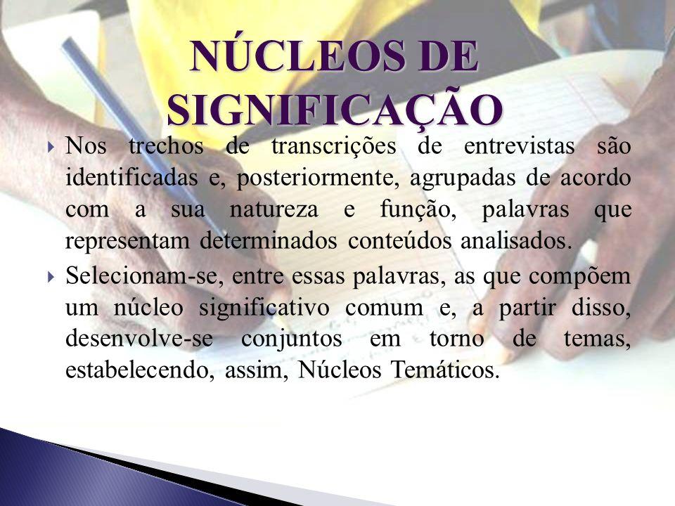 NÚCLEOS DE SIGNIFICAÇÃO