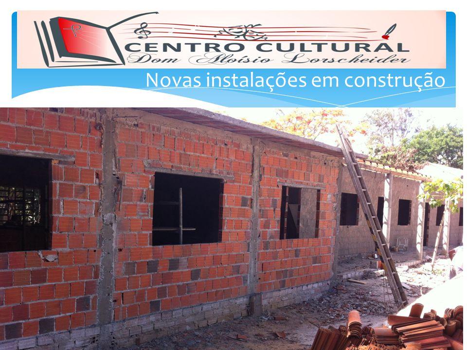 Novas instalações em construção