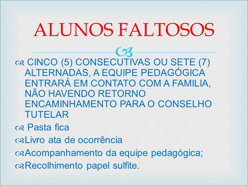 ALUNOS FALTOSOS