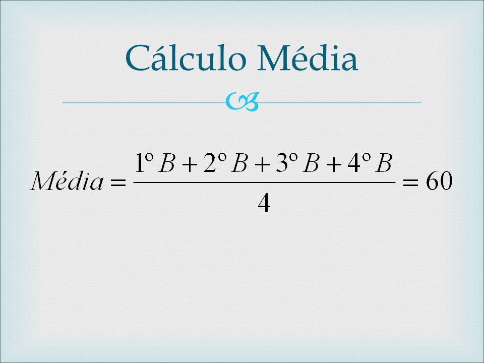 Cálculo Média