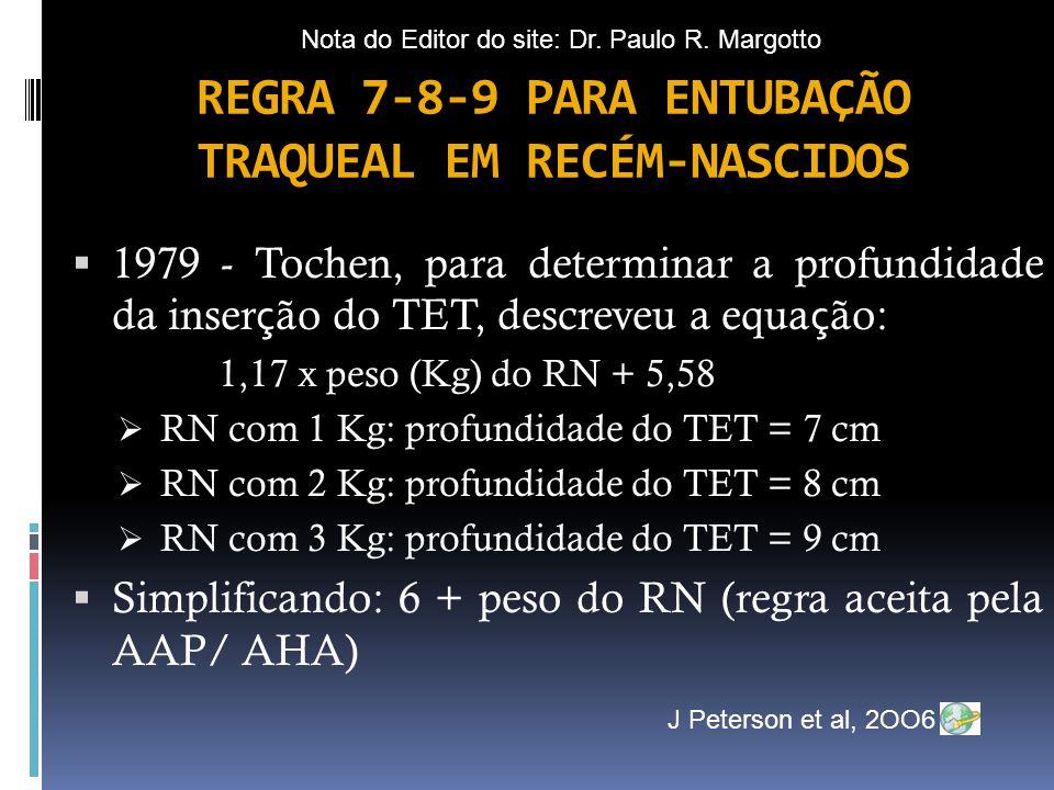 REGRA 7-8-9 PARA ENTUBAÇÃO TRAQUEAL EM RECÉM-NASCIDOS