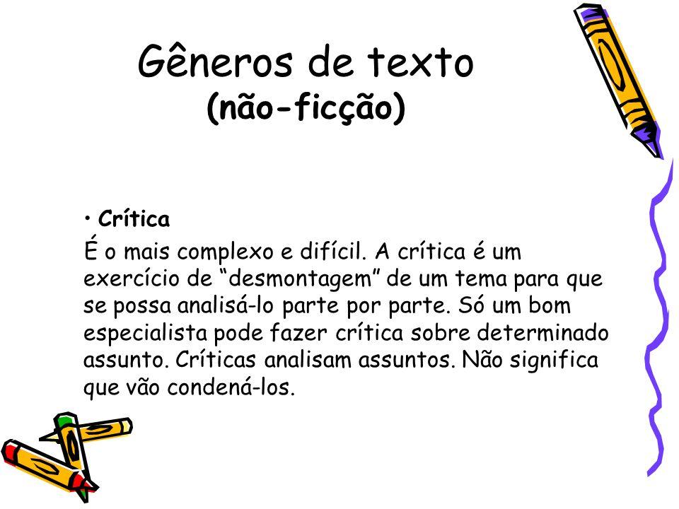 Gêneros de texto (não-ficção)
