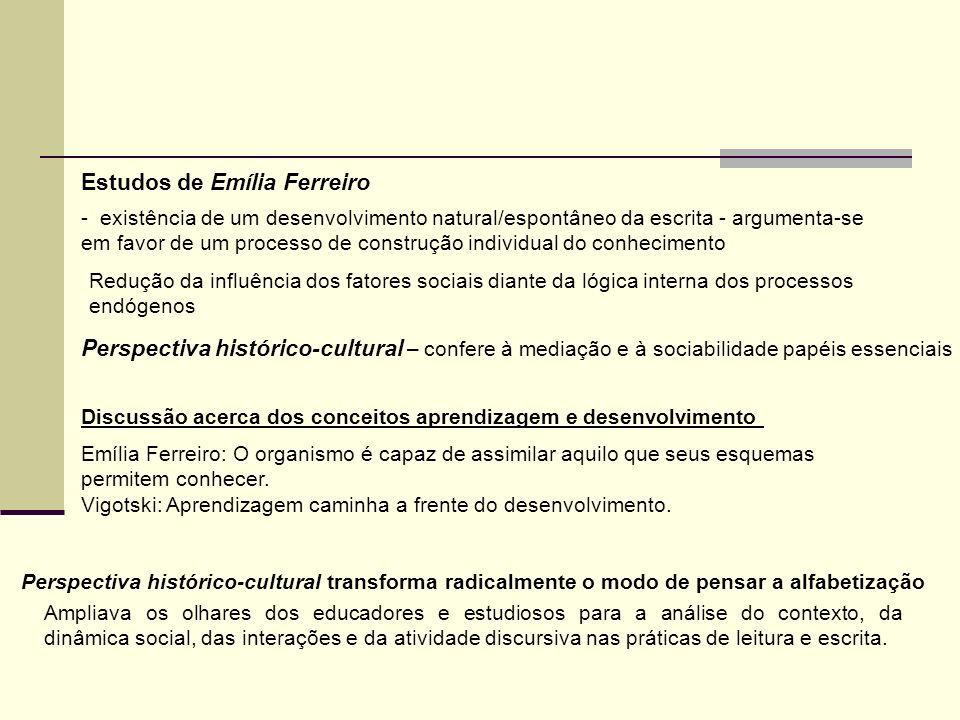 Estudos de Emília Ferreiro