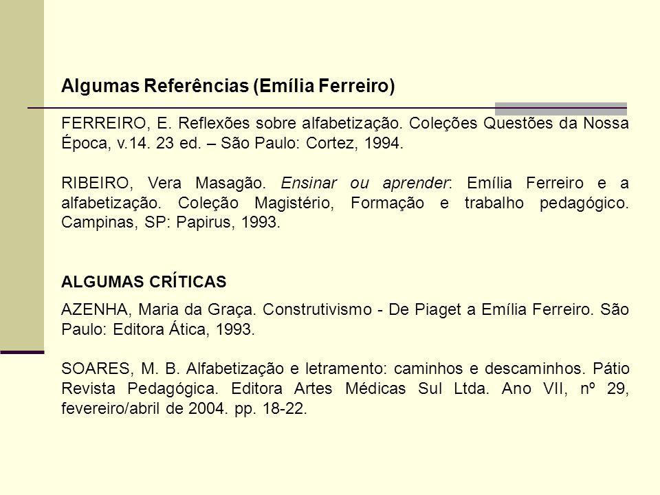 Algumas Referências (Emília Ferreiro)