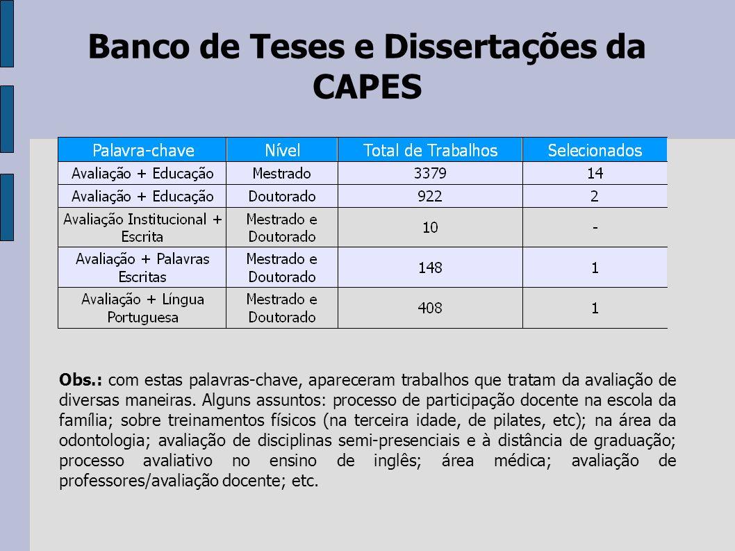 Banco de Teses e Dissertações da CAPES