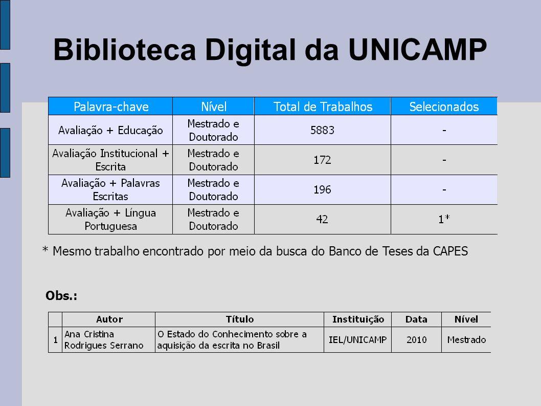Biblioteca Digital da UNICAMP