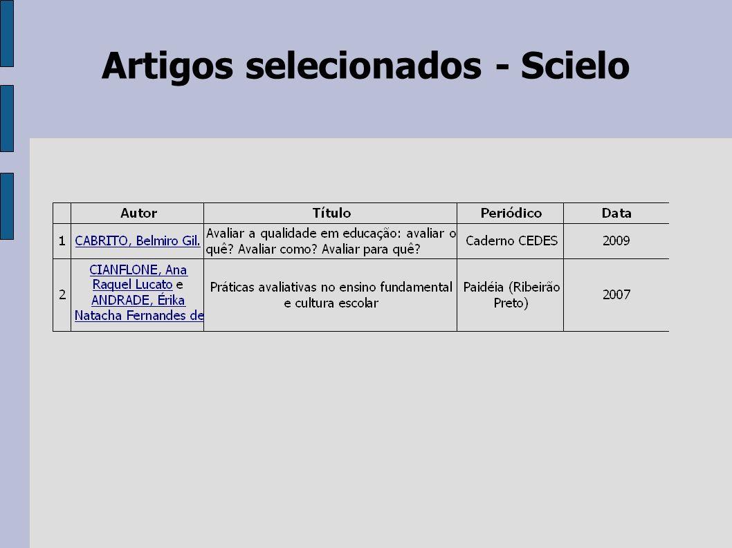 Artigos selecionados - Scielo