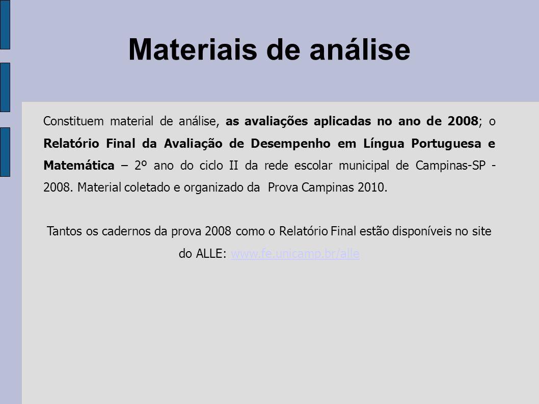 Materiais de análise