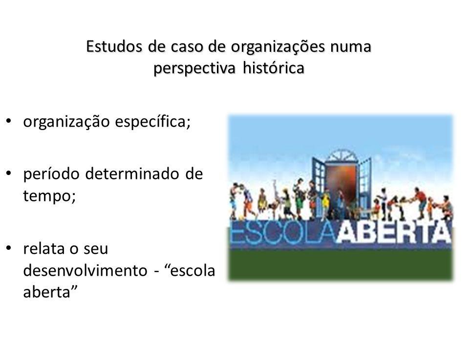 Estudos de caso de organizações numa perspectiva histórica
