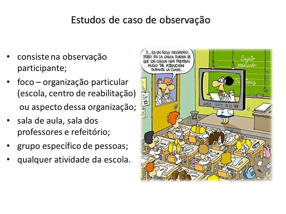 Estudos de caso de observação