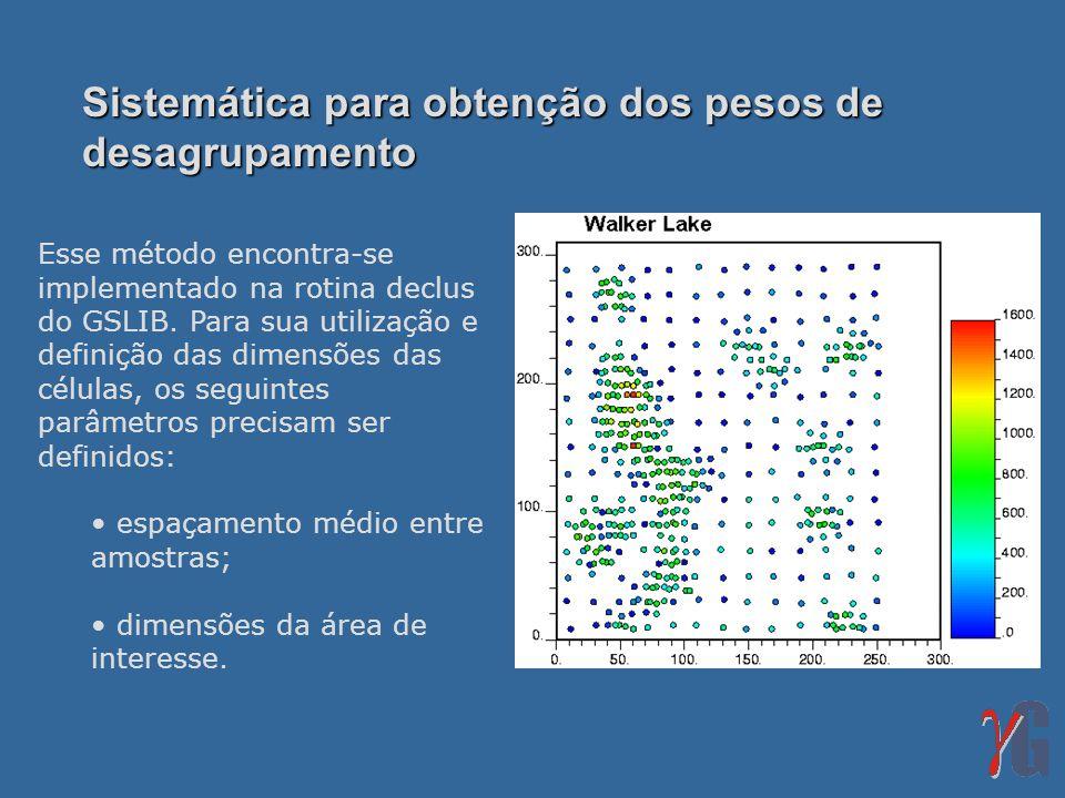 Sistemática para obtenção dos pesos de desagrupamento