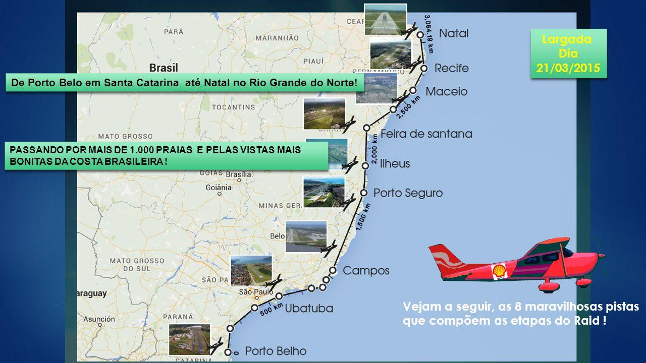 De Porto Belo em Santa Catarina até Natal no Rio Grande do Norte!