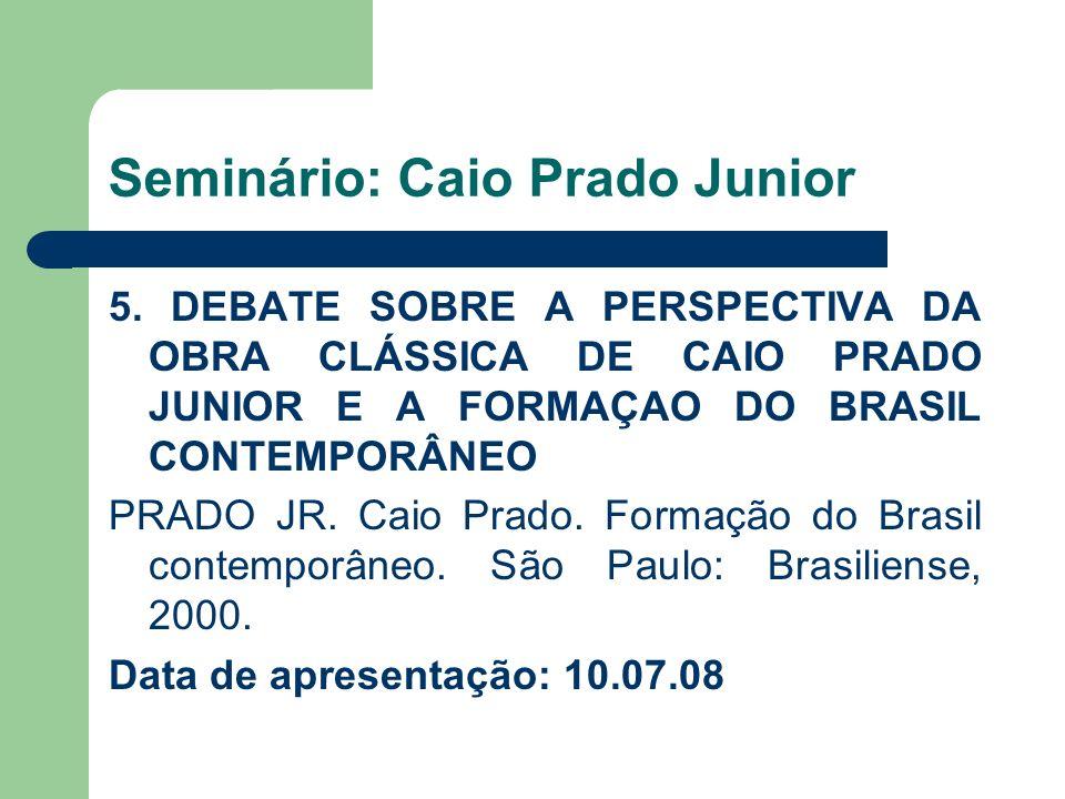 Seminário: Caio Prado Junior