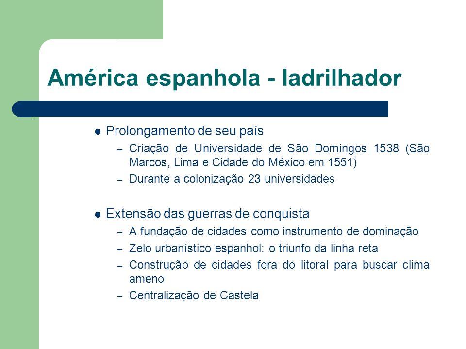 América espanhola - ladrilhador