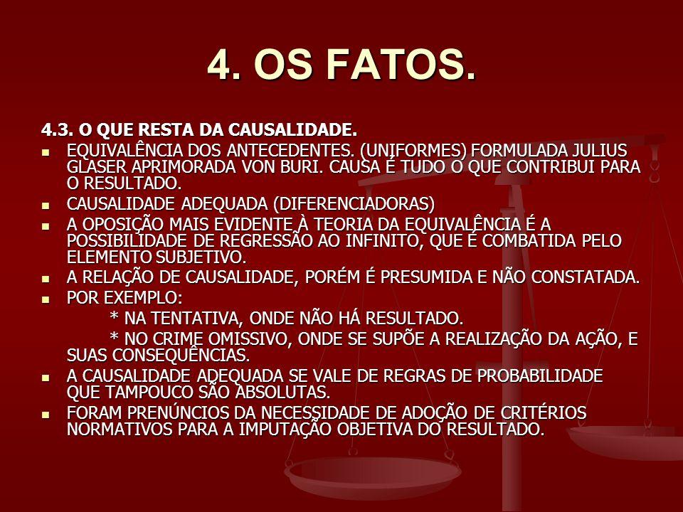 4. OS FATOS. 4.3. O QUE RESTA DA CAUSALIDADE.
