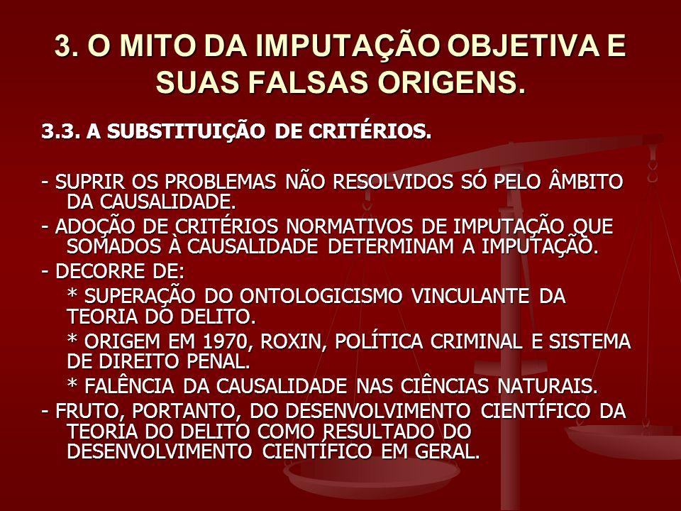 3. O MITO DA IMPUTAÇÃO OBJETIVA E SUAS FALSAS ORIGENS.