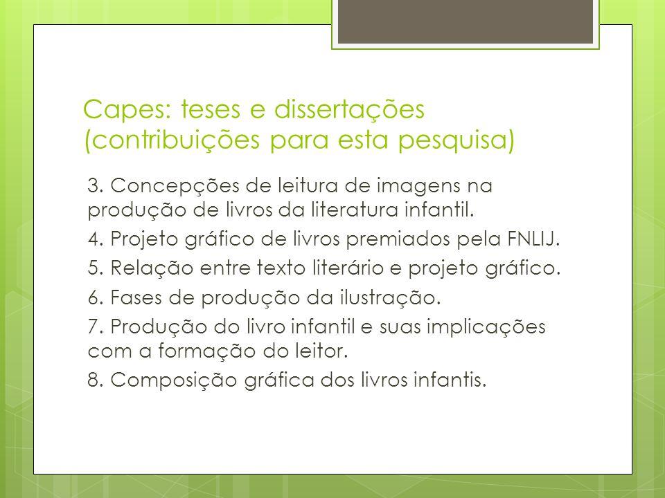 Capes: teses e dissertações (contribuições para esta pesquisa)