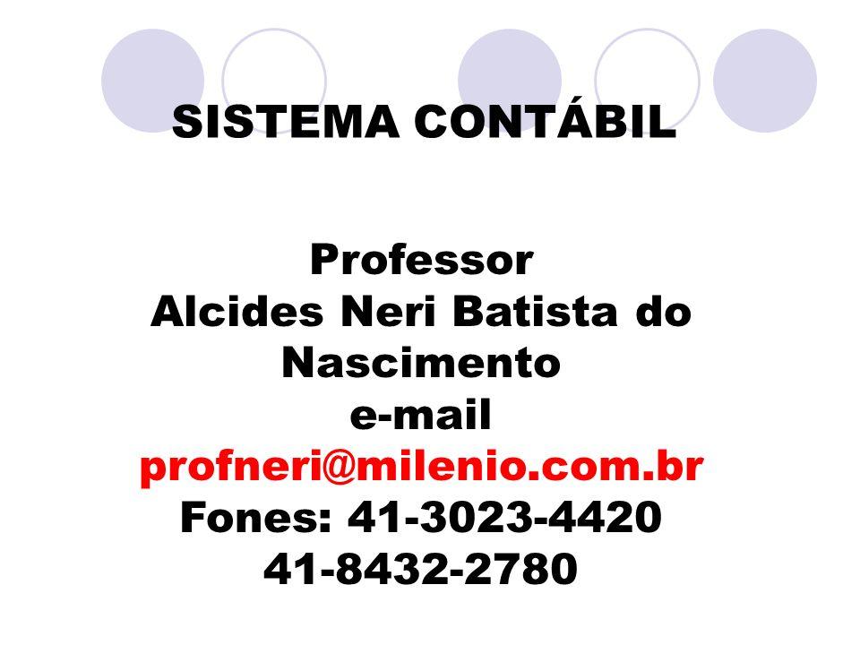 SISTEMA CONTÁBIL Professor Alcides Neri Batista do Nascimento