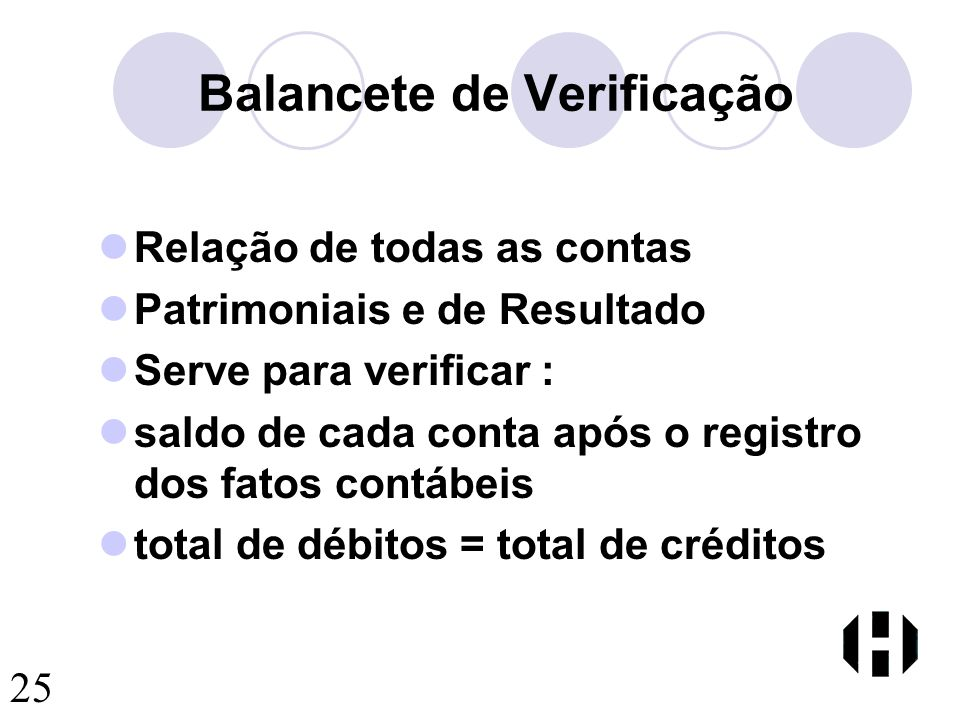 Balancete de Verificação