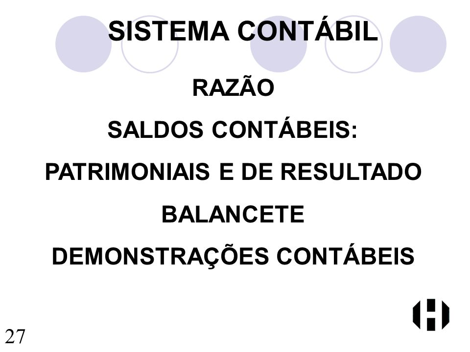 PATRIMONIAIS E DE RESULTADO DEMONSTRAÇÕES CONTÁBEIS