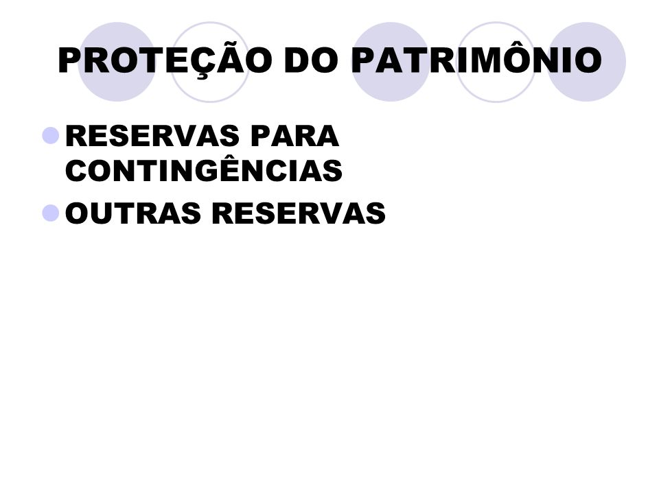 PROTEÇÃO DO PATRIMÔNIO