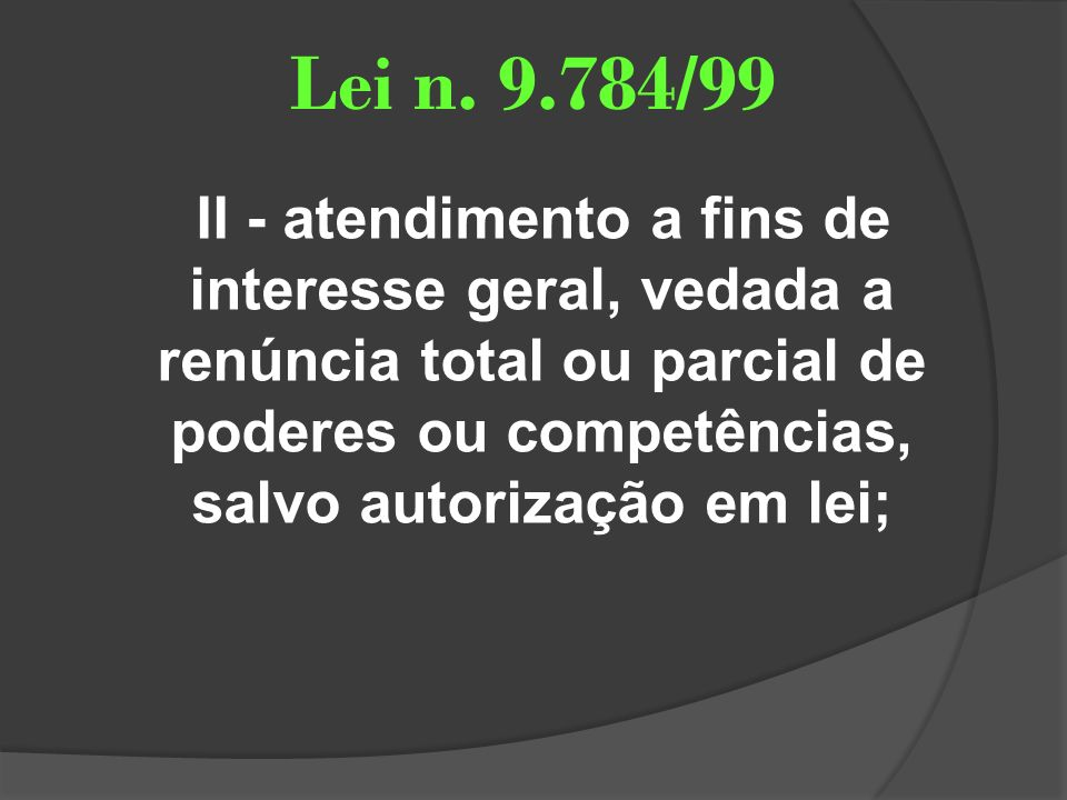 Lei n. 9.784/99
