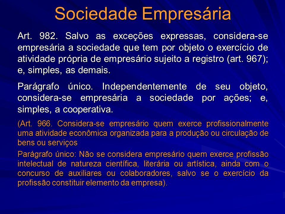 Sociedade Empresária