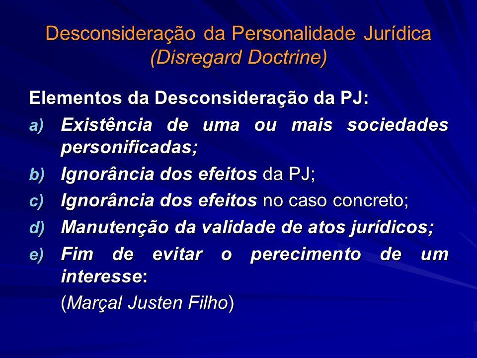 Desconsideração da Personalidade Jurídica (Disregard Doctrine)