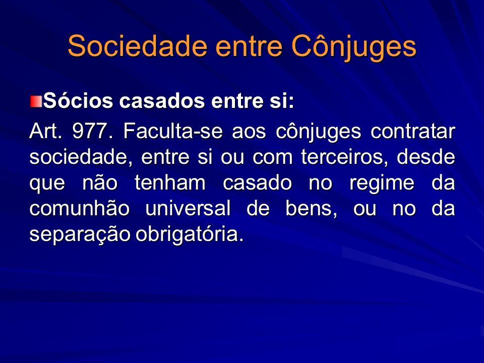Sociedade entre Cônjuges