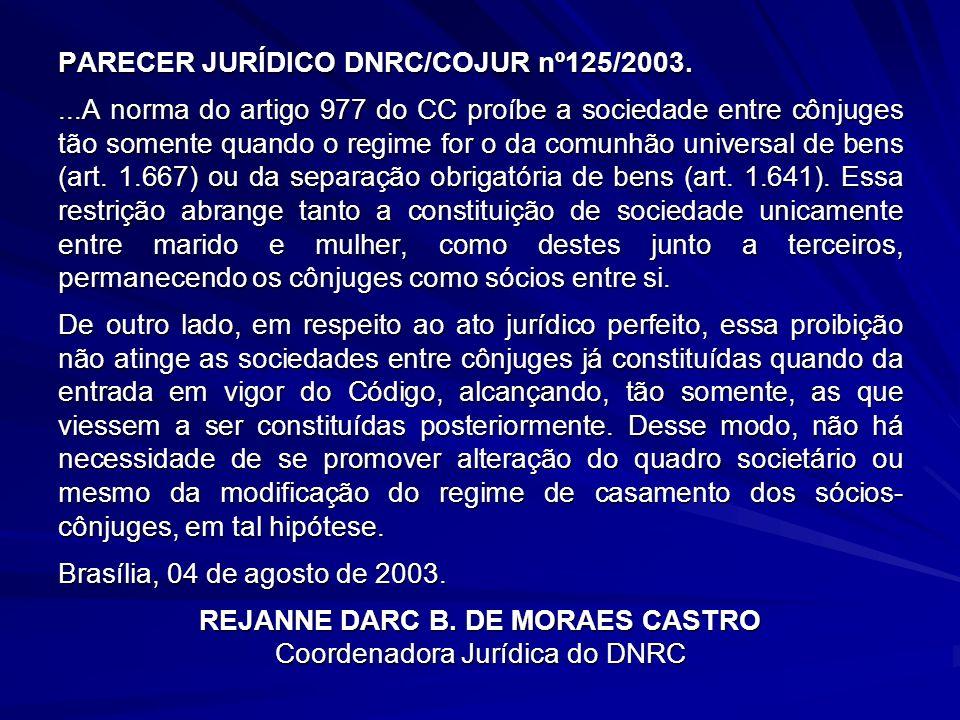 REJANNE DARC B. DE MORAES CASTRO Coordenadora Jurídica do DNRC