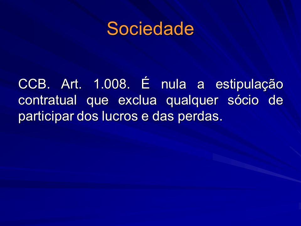 Sociedade CCB. Art. 1.008.