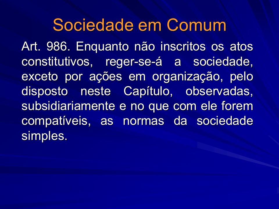 Sociedade em Comum