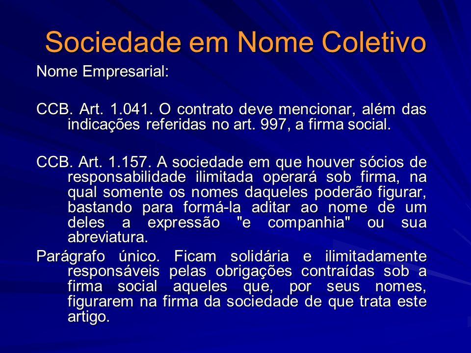 Sociedade em Nome Coletivo