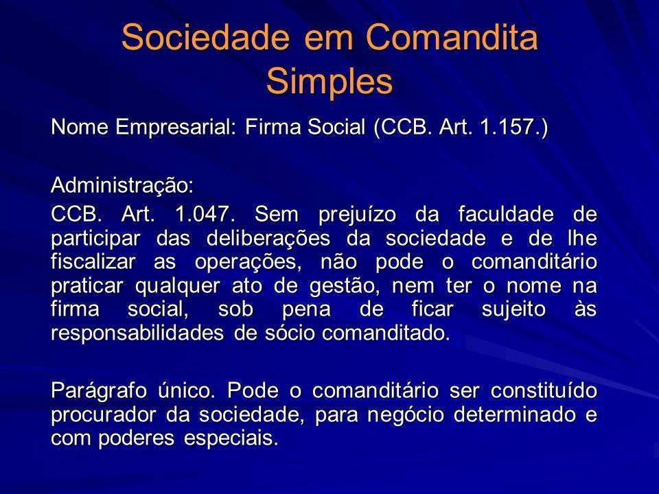 Sociedade em Comandita Simples