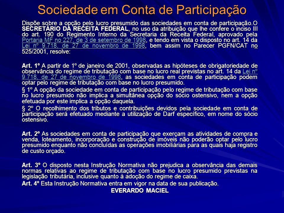 Sociedade em Conta de Participação